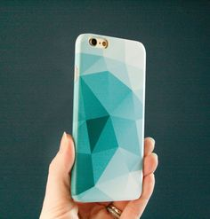 iPhone 6 Case Geometric iPhone 6S Case, Teal Modern iPhone SE Case, Abstract…
