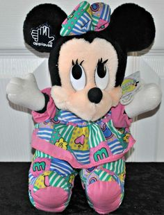 """Vintage Applause Disney Babies 9"""" Minnie Mouse Plush Baby Mickey Collection MINT #VINTAGE #applause #disneybabies"""