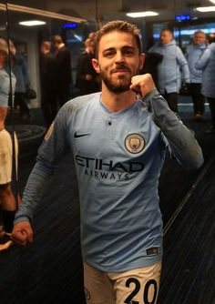 Bernardo Silva of Manchester City celebrates victory in the tunnel after  the Premier League match between Manchester City and Liverpool FC at the  Etihad ... 02b0ed26177