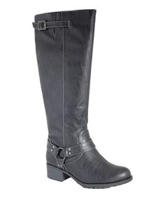Another great find on #zulily! Black Nevada Extra Wide-Calf Riding Boot by Intaglia #zulilyfinds