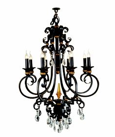 Wrought iron luxury chandelier