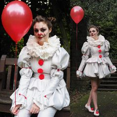Pennywise Costume dress IT 2017 clown costume cosplay.