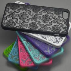 Vintage Damask Flower Hard Back Skin Case Cover Holder For Apple iPhone 5 5S 6 #Unbranded