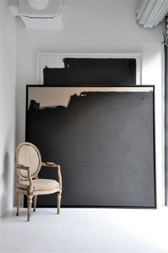 Wohninspiration – Super Size Me – Style – Art Deco Interior Large Painting, Painting Abstract, Diy Painting, Large Artwork, Painting Canvas, Large Abstract Wall Art, Simple Artwork, Black Painting, Big Wall Art