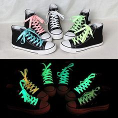Cheap glow in the dark sticker, Buy Quality glow letters directly from China glow ring Suppliers: Sport Luminous Shoelace Glow In The Dark Night Color Fluorescent Shoelace Athletic Sport Flat Shoe Laces Toiletry Kit Tie Shoelaces, Sneaker Boots, Casual Sneakers, Gift For Lover, Shoe Boots, Stuff To Buy, Athletic Sport, Athletic Style, Dark Night