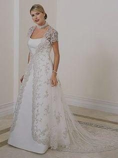 Plus Size Vow Renewal Dress