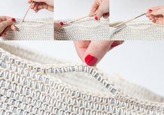 Crochet a Cotton Basket: Are you one of those people with a house overrun with yarn? Don't know what to do with all those stacks of magazines?Today we'll give you the solution to your problems, teaching you to crochet this practical cotton basket. Crochet Videos, Knit Or Crochet, Single Crochet, Crochet Hooks, Free Crochet, Yarn Projects, Crochet Projects, Crochet Basket Pattern, Easy Knitting Patterns