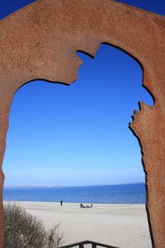Silhouette Udo Lindenberg, Sculpture Timmendorfer Strand, photo Birgit Puck