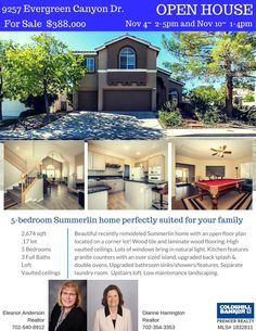 Price Reduced and Open Houses scheduled! Join us 11/4 and 11/10 to see this amazing upgraded Summerlin Home! #GregSellsLasVegas #ColdwellBanker #LasVegasHomes