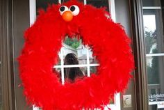 Elmo Wreath