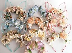 """Are flower bunny ears the new flower crowns? #Easteriscoming : @jldesigns_sale"""