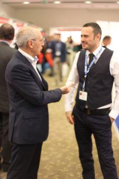@Dario Massi con Riccardo Crisciotti Direttore Commerciale Label Informatica presso il Crowne Plaza Convention Centre di Roma @Gruppo Label #ICTSecurity