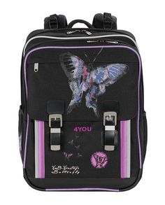 4You Schulrucksack Classic Plus - 726 - VINTAGE BUTTERFLY