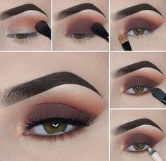 Eye Makeup Steps, Makeup Eye Looks, Eye Makeup Art, Smokey Eye Makeup, Eyeshadow Makeup, Makeup Tips, Beauty Makeup, Makeup Tutorials, Brown Makeup