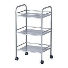 "DRAGGAN Cart, silver color - 16x12 5/8x29 3/8 "" - IKEA"