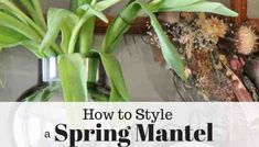 Learn how to style a spring mantel using vintage elements, like a French door, combined with natural items like fresh tulips Large Concrete Pavers, Concrete Leaves, Concrete Garden, Outdoor Water Features, Water Features In The Garden, Garden Features, Garden Fountains Outdoor, Garden Ponds, Koi Ponds