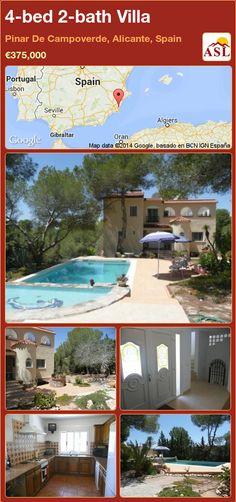 4-bed 2-bath Villa in Pinar De Campoverde, Alicante, Spain ►€375,000 #PropertyForSaleInSpain
