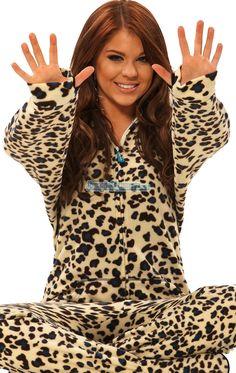 Snow Leopard - Drop Seat Hoodie - Pajamas Footie PJs Onesies One Piece Adult Pajamas - JumpinJammerz.com