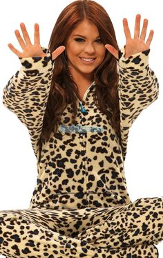 Womens-Footed-Pajamas-Onesie-Adult-Size-PJs-S-M-L-XL-Footie ...