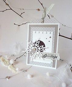Christmas card with snowflake snowflakes silver black grey white