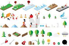 Iconography 03 by Jackkrit Anantakul, via Behance