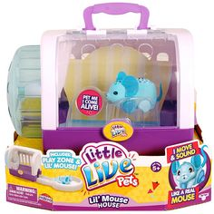 Moose Toys Kids Little Live Pets Lil' Mouse House,Cuppi-Swirl Ages 5 yrs Mouse Cage, American Girl Doll Room, Cake Squishy, Baby Alive Food, Little Live Pets, Birthday Party Games For Kids, Moose Toys, Pet Mice, Puppies And Kitties