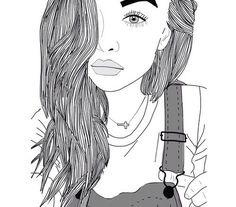 yeux, fille, cheveux, lèvres, Tumblr