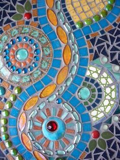 Memories in Mosaics on Etsy mosaic ~ @wendie valdez Lunsford, my garage is open to you if you ever want to teach.  It's beginning to be a studio.  Let's make some cool stuff!!!!
