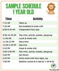 Sample Schedule for One Year Old - Parenting is difficult, but a schedule for your kids can be very helpful