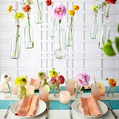 Add an unexpected element of fun to your next get-together with these suspended blooms! http://www.bhg.com/party/bridal-shower-party-ideas/?socsrc=bhgpin051315floralparty&page=10