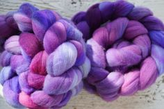 Merino Combed Top, Spinning Fiber, Hand Dyed by JBroadwayCreations on Etsy