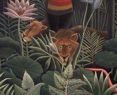 """Henri Rousseau - Art Naïf - Naive Art - Detail from """"The Dream"""" (1910)"""