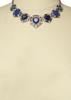 OLIVIA WELLES Baguette Teardrop Stone Necklace