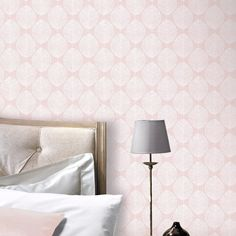 Arthouse VIP Wallpaper | Scandi Leaf Pink | 908200 – WonderWall by Nobletts