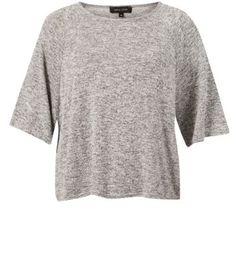 T-shirt gris à manches larges