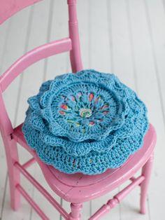 Crochet cushion from Rowan Farmhouse Knits