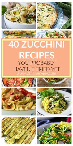 40 Healthy Zucchini Recipes for every taste. Great variety of spring and summer recipes that are easy and healthy! In this list you will find whatever your heart desires. From zucchini pizza, quinoa bowl, zoodles to zucchini salad, fries and boats. Zoodles are a super healthy alternative to spaghetti. You can use all your pasta recipes and replace the pasta with zoodles.