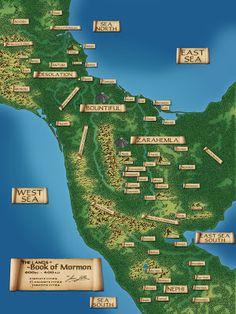 Book Of Mormon Lands Hazbineldar: Updated Book of Mormon Map Family Scripture, Scripture Study, Scripture Journal, Book Of Mormon Stories, Mormon Book, Lds Books, Lds Scriptures, Lds Primary, Book Of Mormon