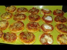 البيتزا الصغيرة للحفلات بحشوات مختلفة / Mini Pizza pour l'apéritif en plusieur Farce
