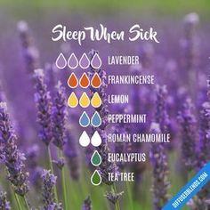 Sleep When Sick — Essential Oil Diffuser Blend #essentialoilssinus