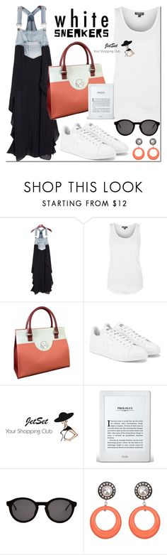 """""""Untitled #3261"""" by mada-malureanu ❤ liked on Polyvore featuring Topshop, adidas, Thierry Lasry and Julie Sion"""