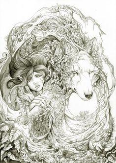 Wolf art pic
