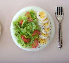1 dolls house miniatures food salad plate maison de poupée Dolls house fimo^^