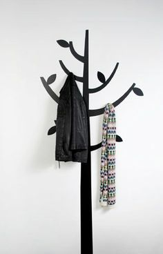 FAVE- Tree decal with sticky on hooks. This would be a fun extra to add to the room and wouldn't cost much more to add some 3M hooks.