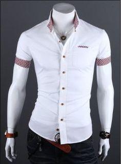 Mens Casual Summer Slim Fit Shirt