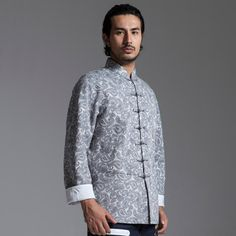 Traditional Chinese Style Tang Suit Original Casual Printing Cotton National Trend Oriental Style, Oriental Fashion, Asian Clothes, Woman Standing, Guilty Pleasure, Chinese Style, Traditional Outfits, Mens Suits, Futuristic