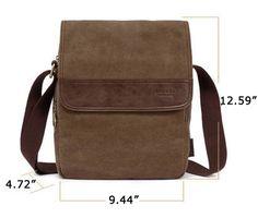 Vertical #Canvas Shoulder #Messenger Bag