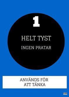 Skyltar på svenska för att tydliggöra ljudnivåer i klassrummet. Finns en färdig PDF med 5 nivåer/färger att skriva ut.