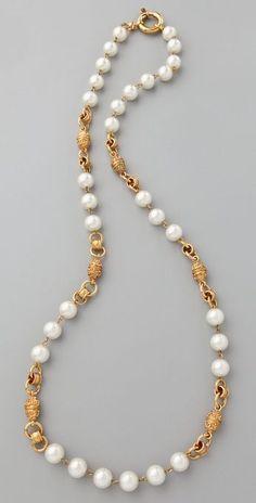 Wgaca Vintage Vintage Chanel Pearl Necklace thestylecure.com