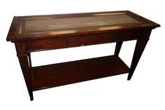 Foyer Table w/ Glass Price: $189.00 ** DISCLAIMER: Quantities and availability are subject to change frequently**